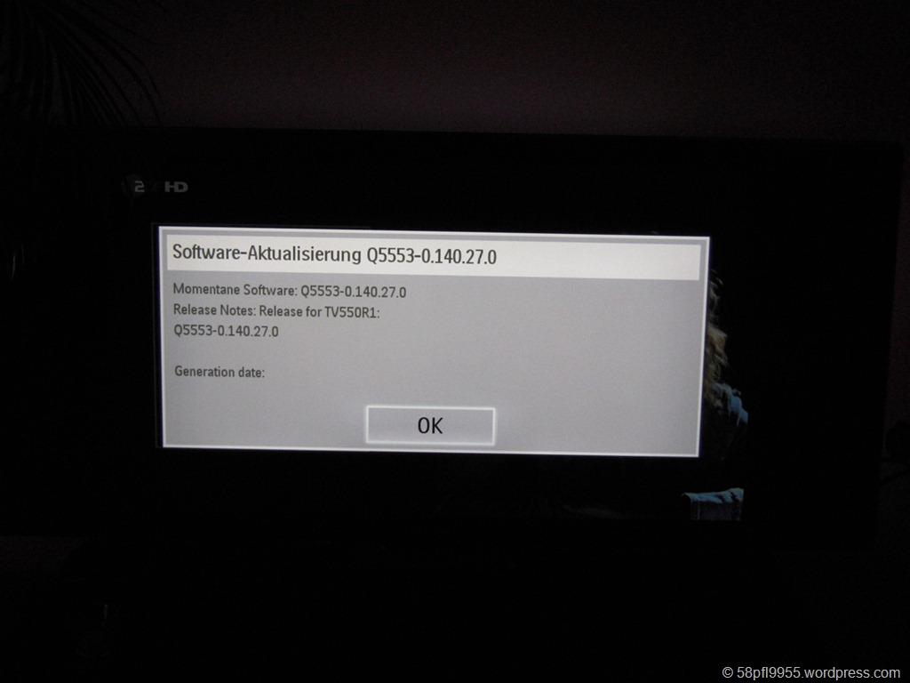 Software-Aktualisierung-Dialog Firmware 140.27