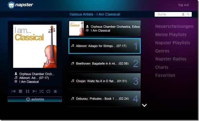 Philips Net TV: Napster