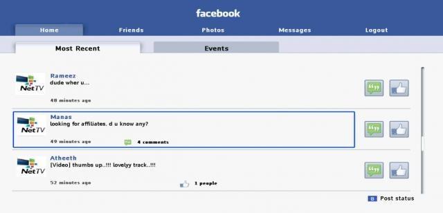 Philips Net TV Facebook