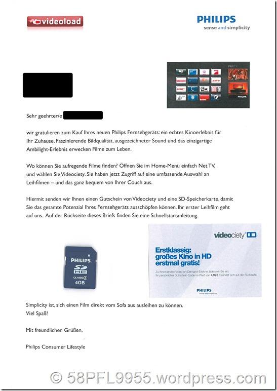 Philips Videociety Gutschein