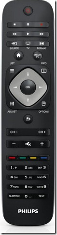 Philips Remote Control 4000, 5000 and 5500 TV series