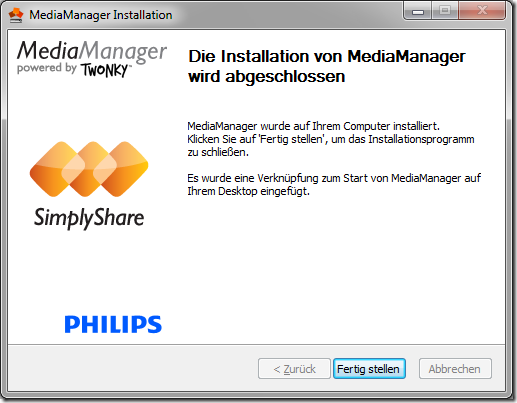Philips MediaManager for Windows and Mac