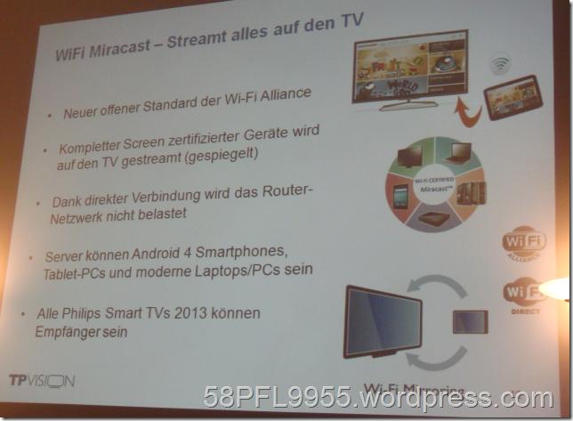 Philips 2013: Wi-Fi Miracast / Wi-Fi Mirroring