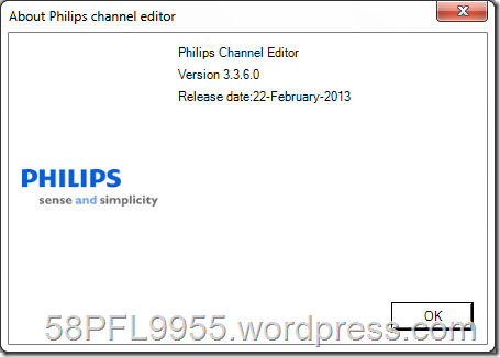 Philips Channel Editor 3.3.6.0