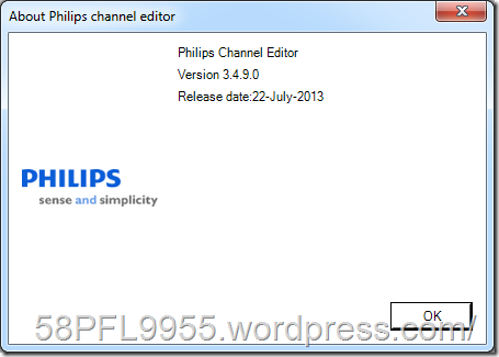 Philips Channel Editor 3.4.9.0