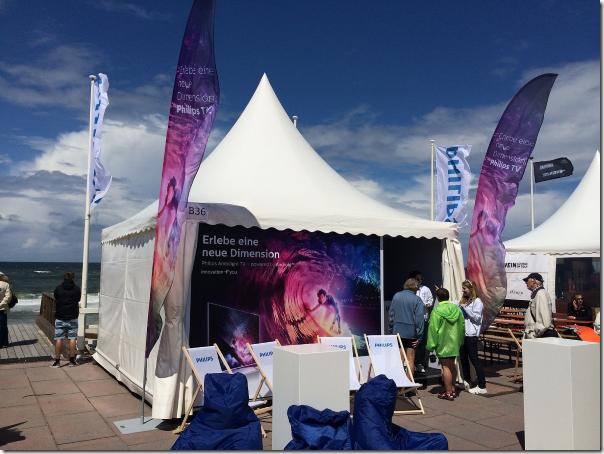 Ambilight at the Beach: Philips TVs beim Windsurf World Cup 2014 auf Sylt