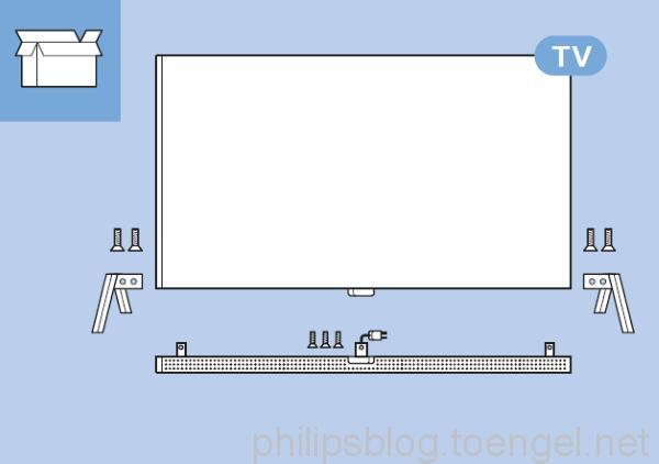 Philips 2015: 65PUS9600/12 Soundbar detachable