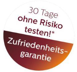 Philips Zufriedenheitsgarantie
