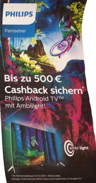 Philips TV-Cashback-Aktion 2015/2016