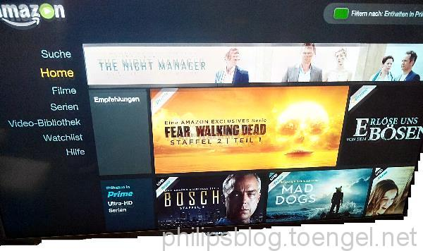 Philips: Amazon Instant Video App