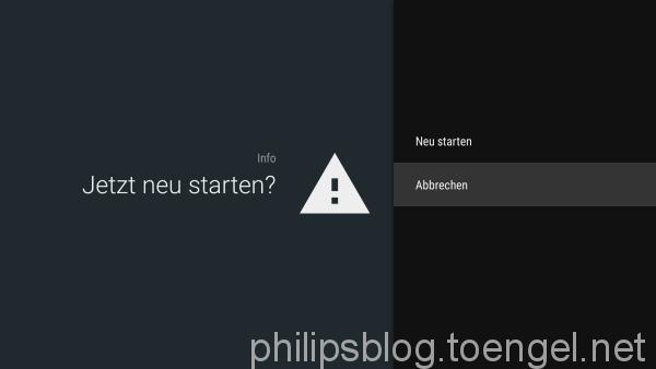 Philips Android TV Restart / Neustart