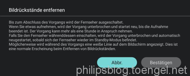 Philips OLED: Bildrückstände entfernen