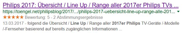 Toengels Phliips Blog - Google Rich Snippet
