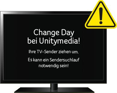 Unitymedia Change Day: Neuanordnung aller Sender ab 29.8.2017