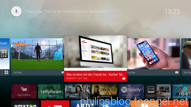 Philips: Philips Collection im Android-TV-Homescreen ausblenden/entfernen