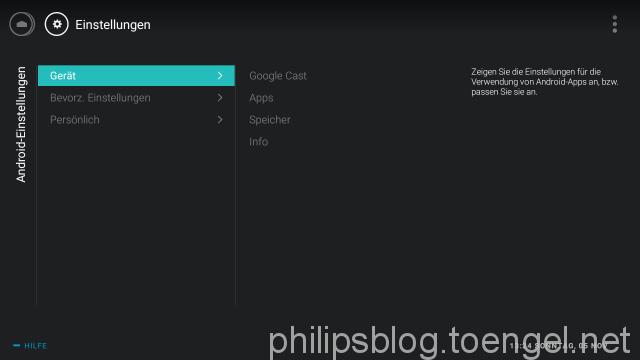 Philips: Android TV Homescreen Empfehlungen anpassen