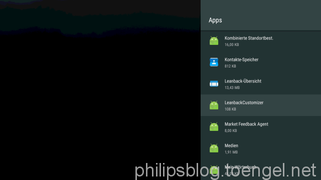 Philips: Android TV Homescreen - Remove Philips Collection
