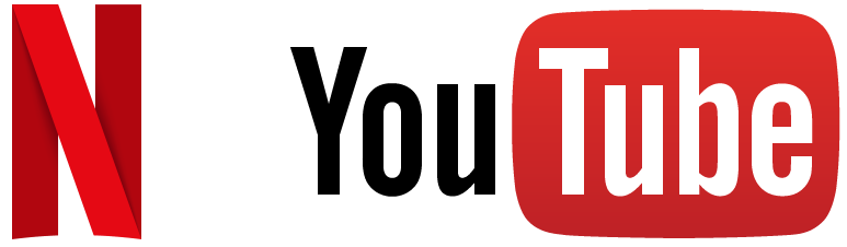 Netflix and YouTube Logo