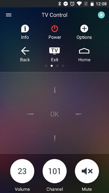 Philips TV Remote App - INFO button