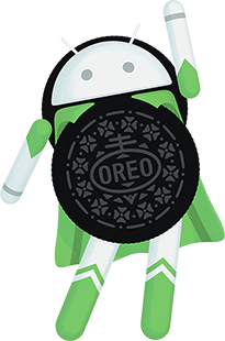 Android TV 8 Oreo Logo - Hero