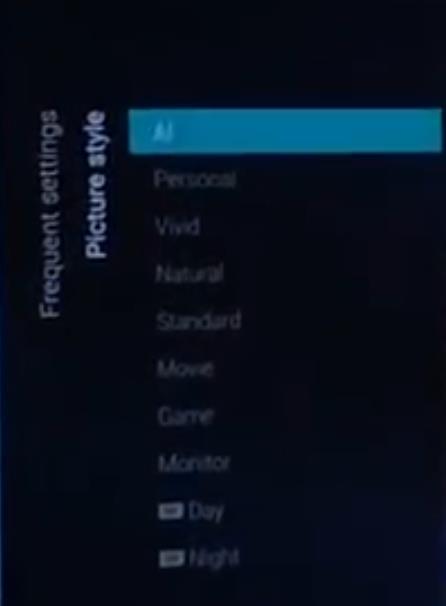 Philips 2020: P5 Generation 4 AI - Bildmodus AI