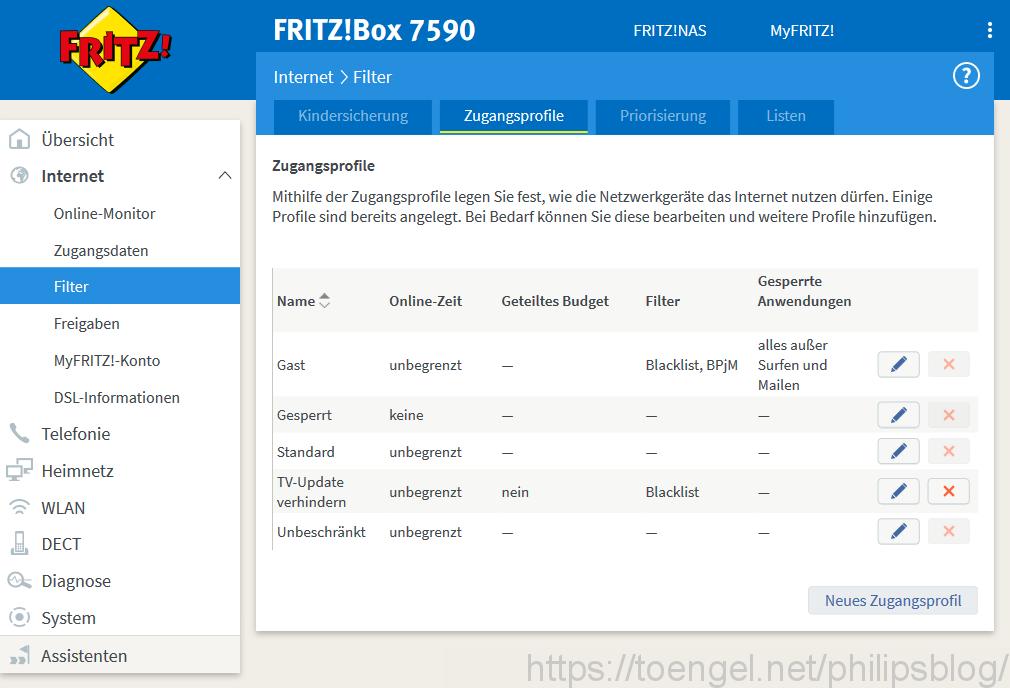 Philips TV-Firmware-Updates verhindern (via Fritzbox)