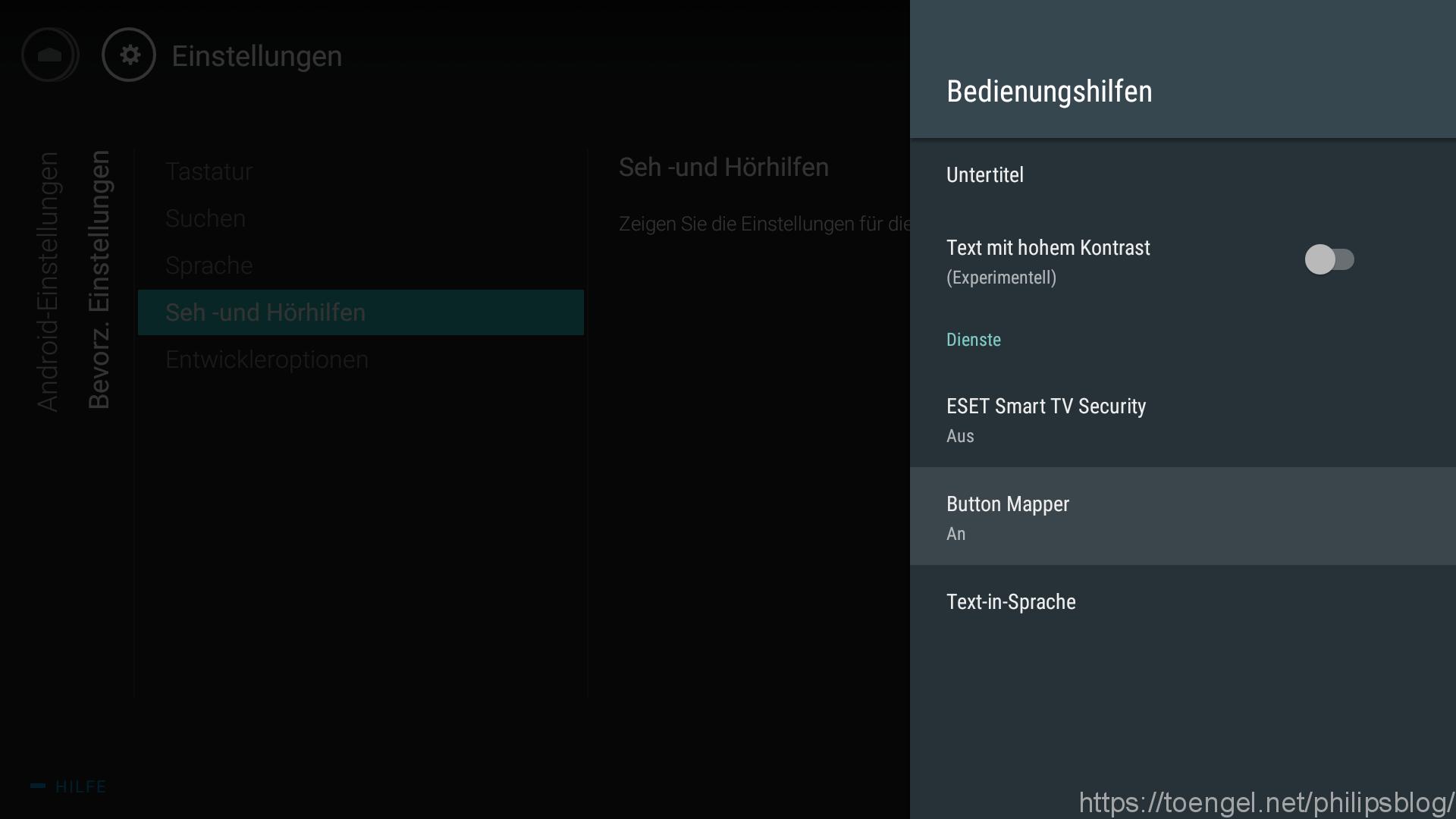 Philips: Android TV Fernbedienung neu belegen - Button Mapper - Bedienungshilfen