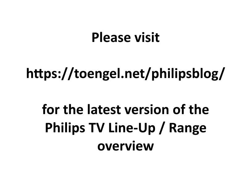 Philips 2020: Complete 2020 Philips TV Overview / Line Up / Range / Übersicht