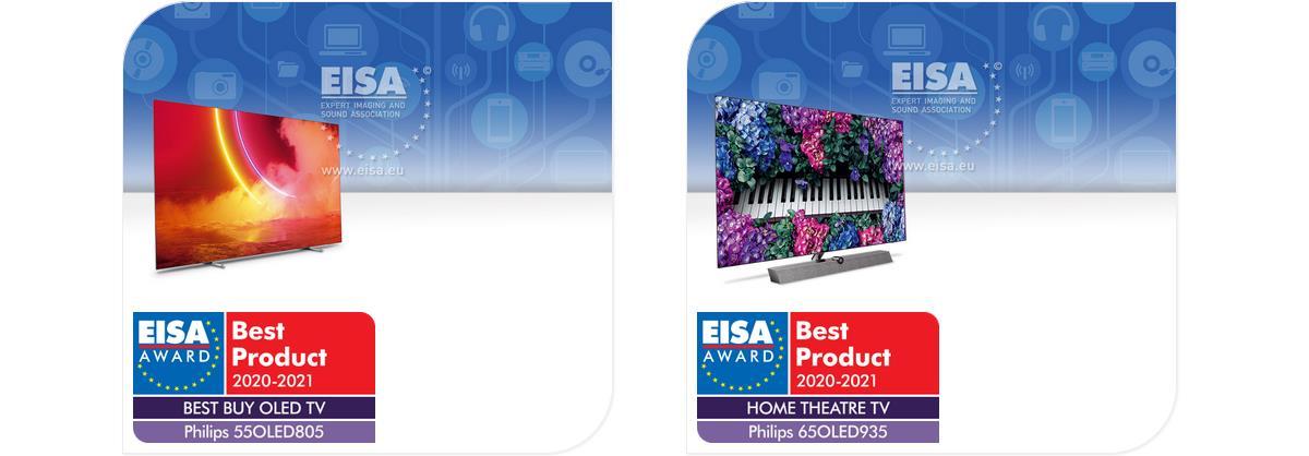 Philips 2020: EISA AWARDS 2020-2021 für 55OLED805 und 65OLED935