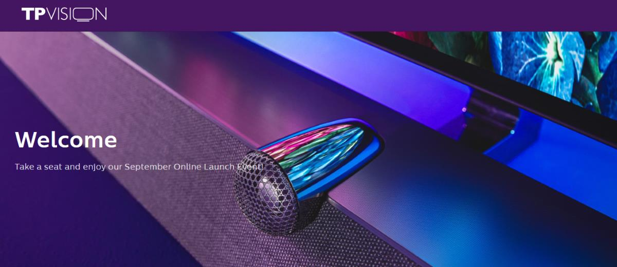 Philips 2020: TP Vision September Online Launch Event (IFA)
