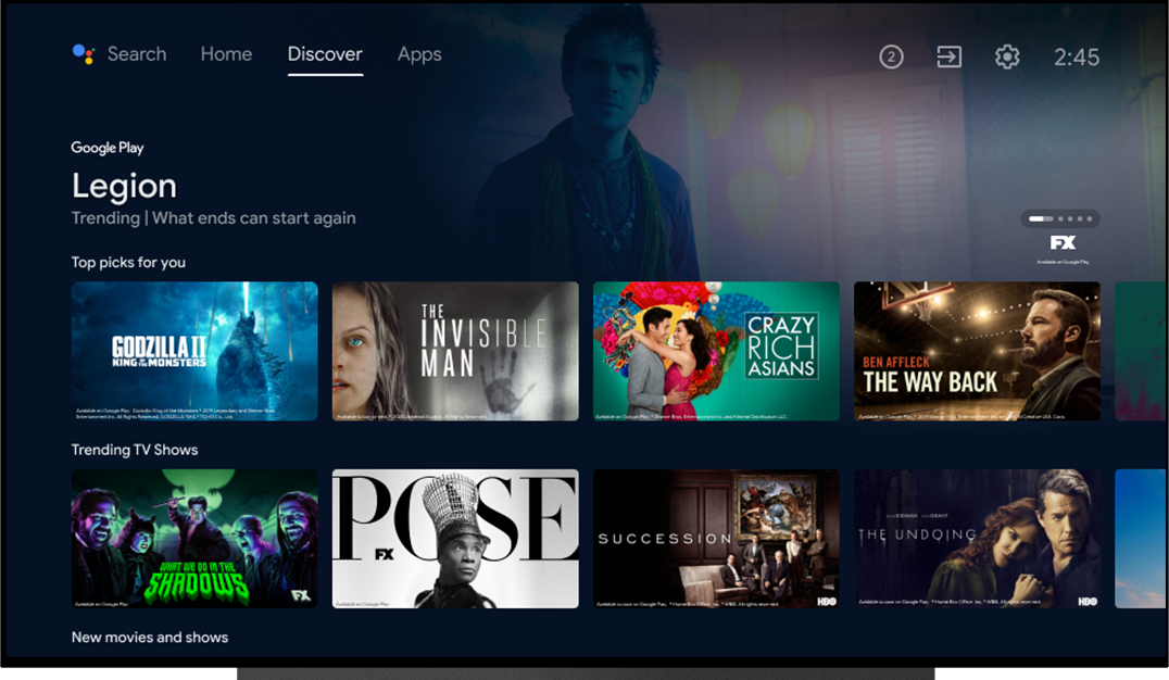 Android TV: New Launcher - Discover