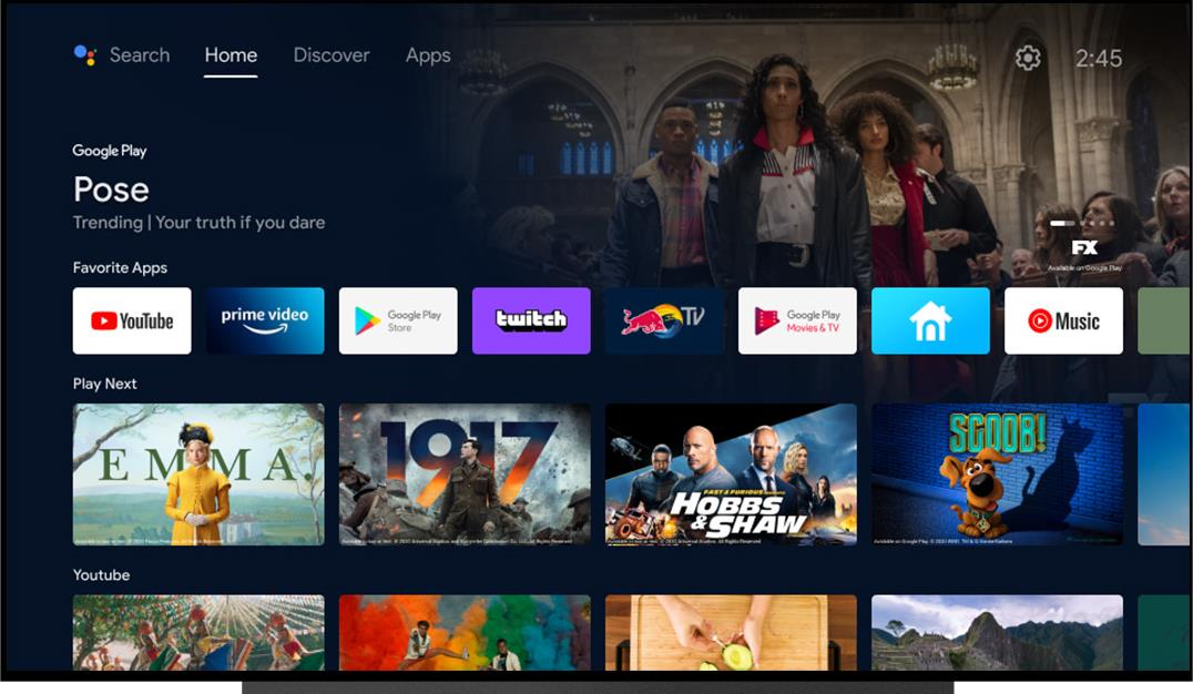 Android TV: New Launcher - Home