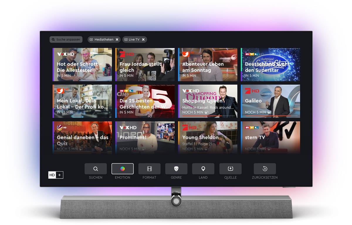 Philips TV: Integriertes HD+ via HbbTV Integrator App